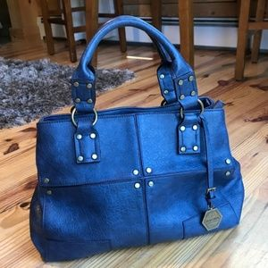 Hayden Harnett Blue Leather Tote Bag Like New